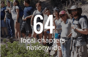 64 local chapters nationwide