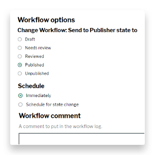 One of our information management tools, allowing workflow updates and scheduling