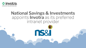 National Savings and Investments appoints Invotra as its preferred intranet provider with NS&I logo
