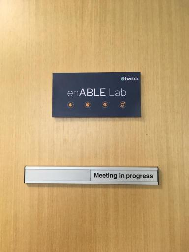 enABLE Lab door sign