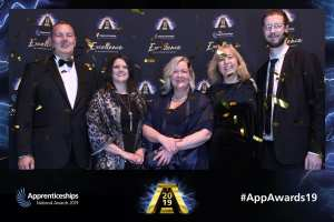 Invotra team at the National Apprenticeship Awards, 2019