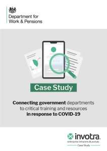Department for Work and Pensions case study front page