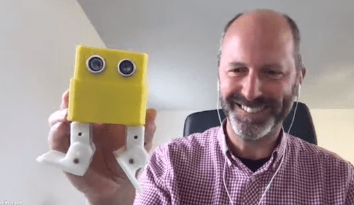 Jonnie Russell and his robot, Bob!