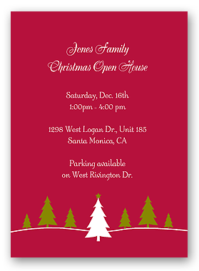 Office Christmas Party Invitations