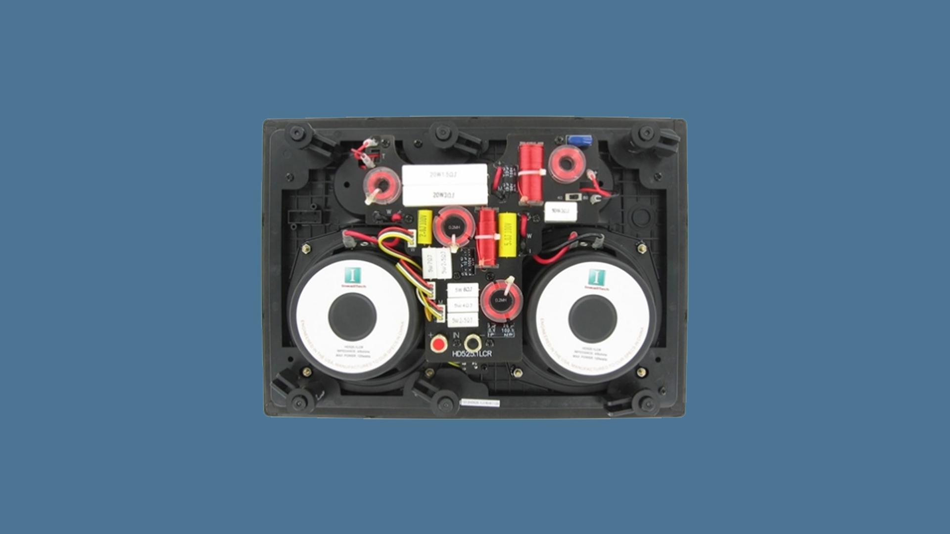 InwallTech Center Channel Speakers HD525 1LCR 4