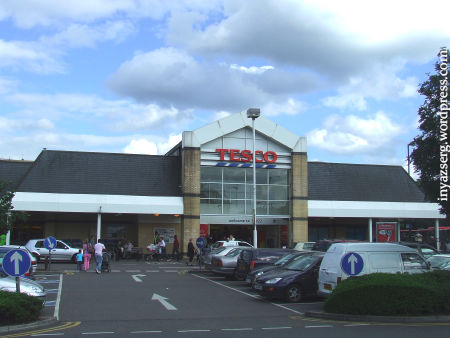 Tesco supermarket in London.