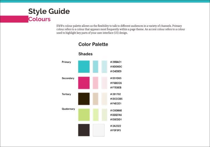 EWB colour style guide