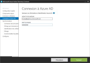 Enter credential Azure