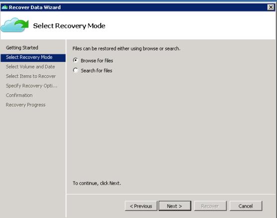 Recovery backup file azure