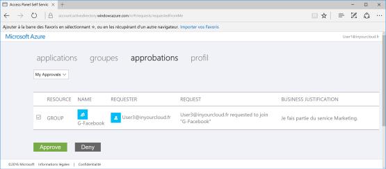 Application appear