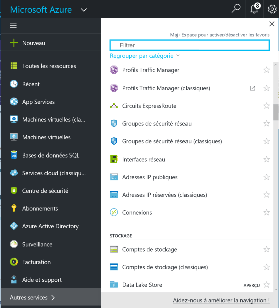 Network Security Groups - Access to the Azure portal