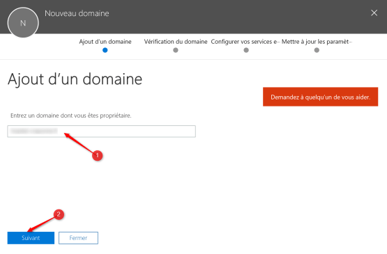 Add domain for Azure AD Connect