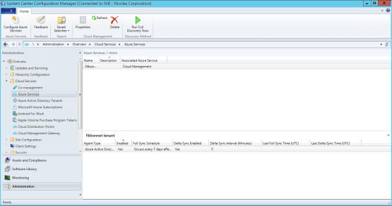Co-management Azure services has been configured