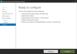 Configure writeback device
