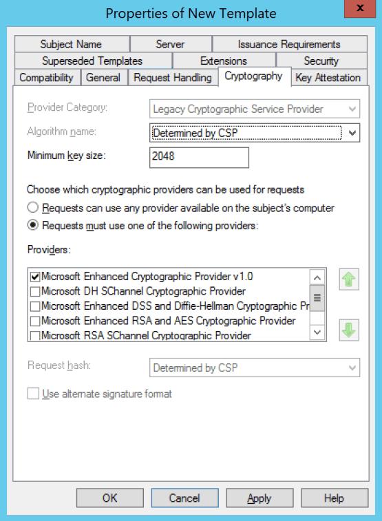 Configure template