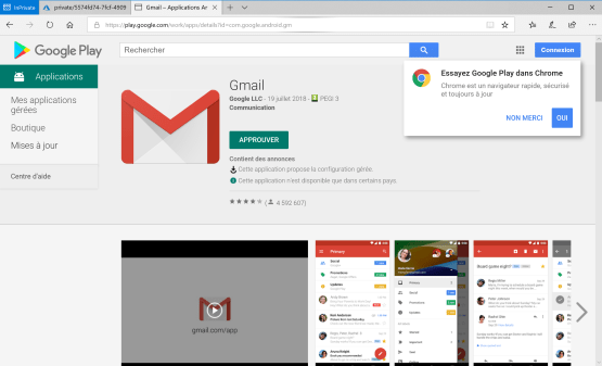 Download Gmail application