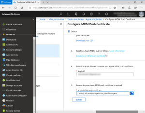 Import certificate on INtune