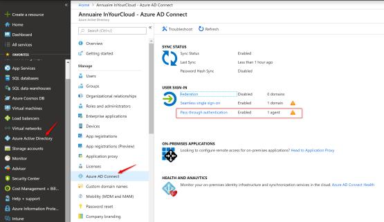 Azure Portal for download Agent