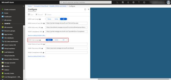 Configure Scope MAM Windows 10 Auto-enrollment