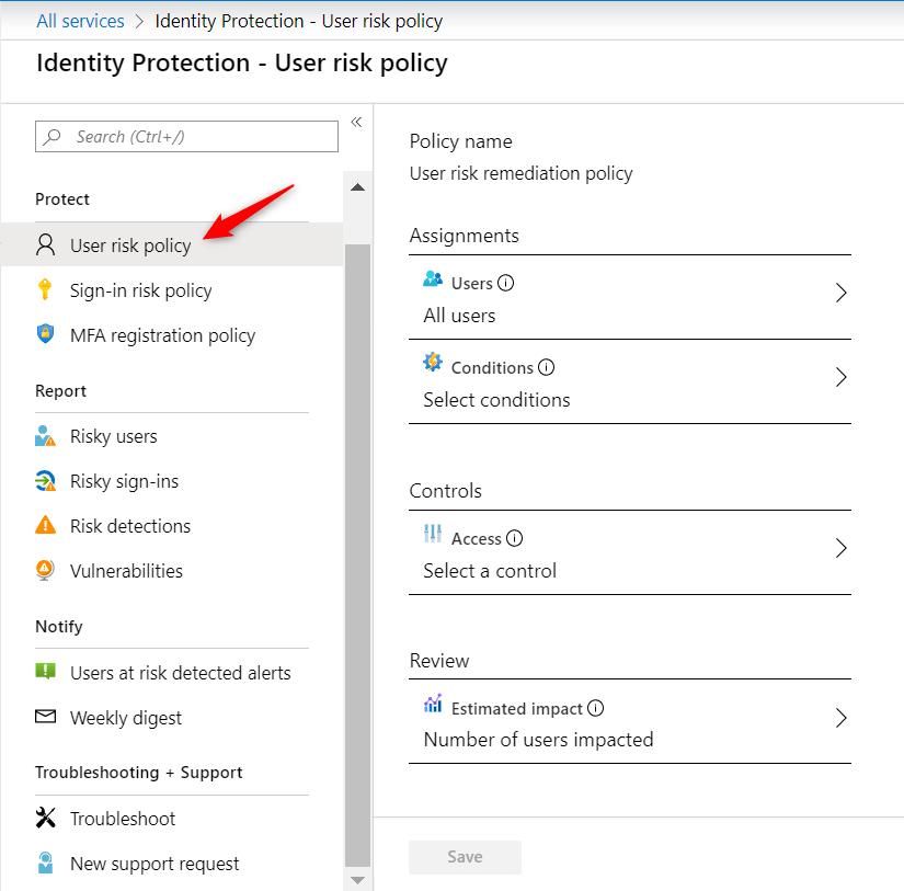 Configure User Risk