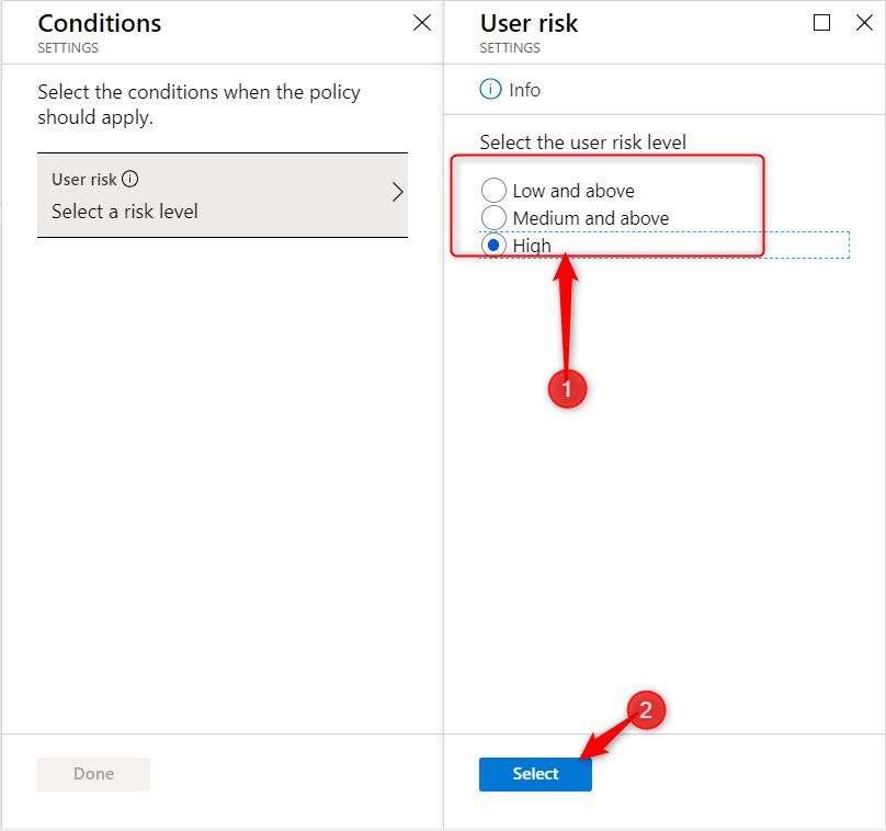 Select risk level