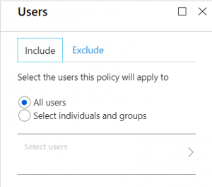 Select the desired users