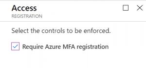 Configure require Azure MFA