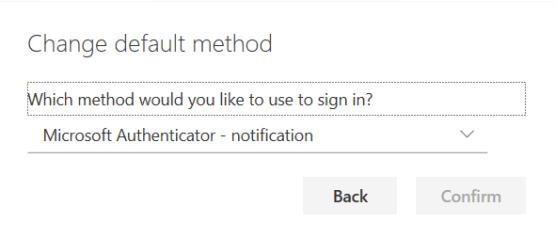 Choose the desired method
