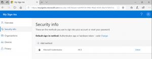 Authentification method configured