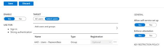 Configure Authentification method