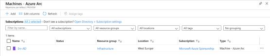 Server has present on Azure Arc