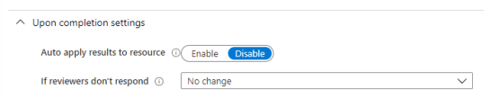 Auto apply to ressource on Azure PIM and Access review