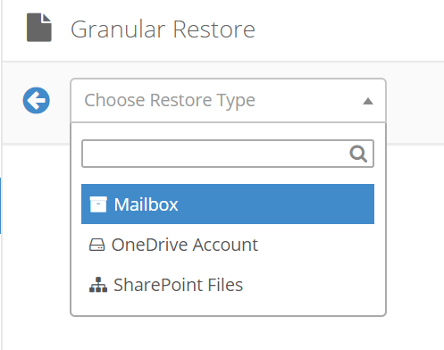 Object that you want restore
