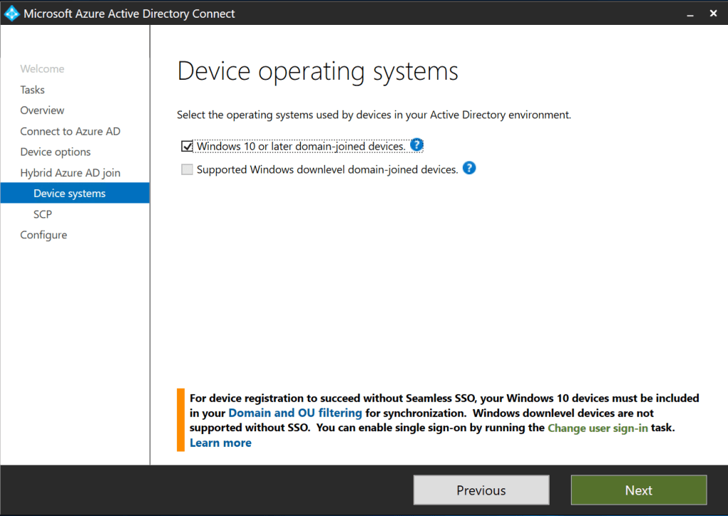 Autopilot and Hybrid AD Join- -Select WIndows 10 domain join devices