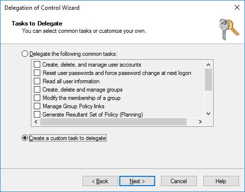 Create custom task to delegate