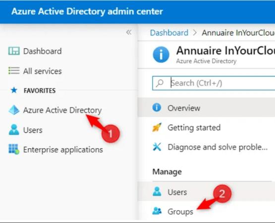 Open Azure AD portal