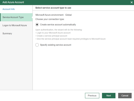 Create service account automatically
