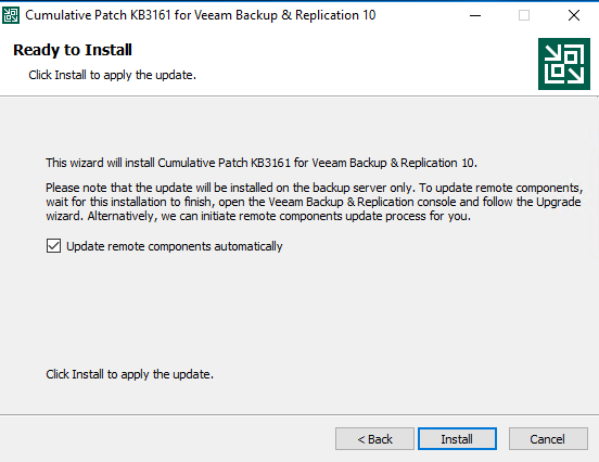 Install patch cumulative 2