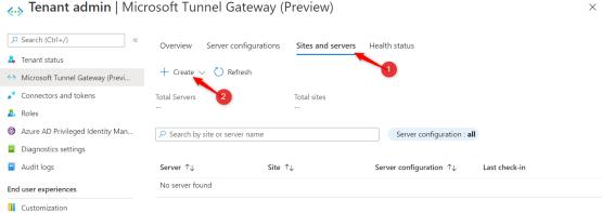Create Site Server