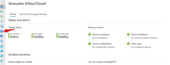 access to apps on intune