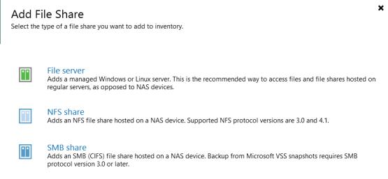 Backup Nas - Add File Share