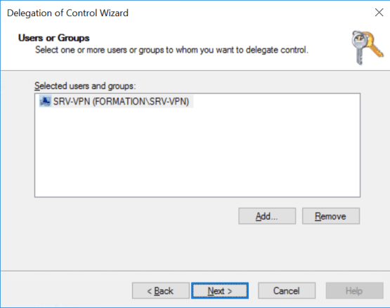Select server   who connector is installed