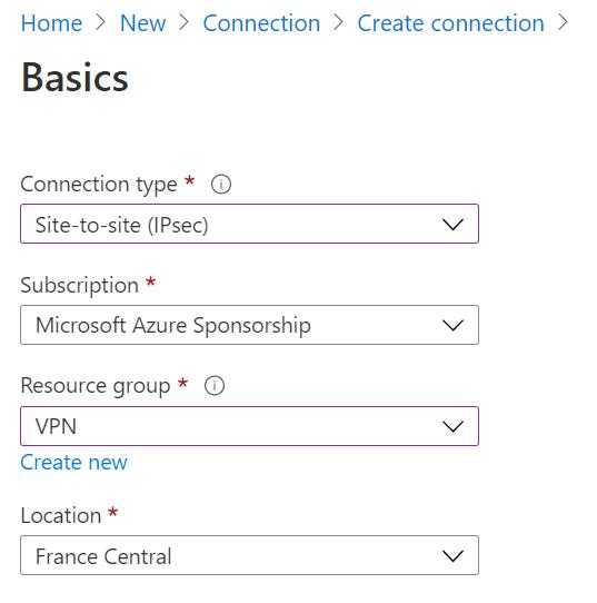 Configure connection