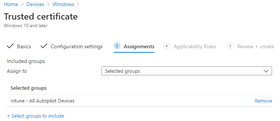 Assign profile to dynamic group