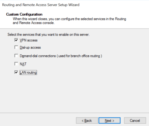 Enable configuration as you want