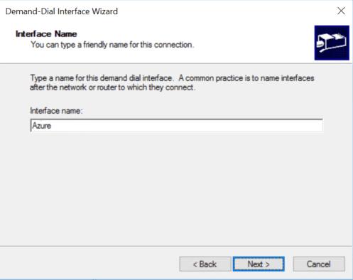 Configure Interface name