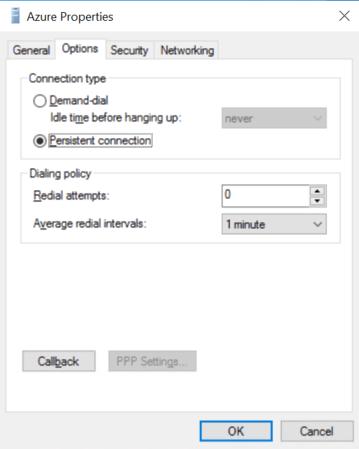 Configure persistent connection