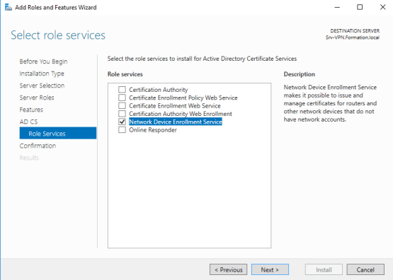 Install Network Device Enrollment Service