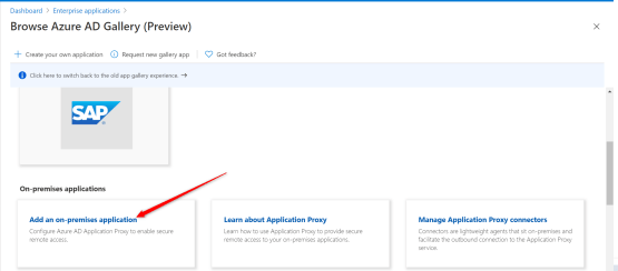 Add an on-premises application