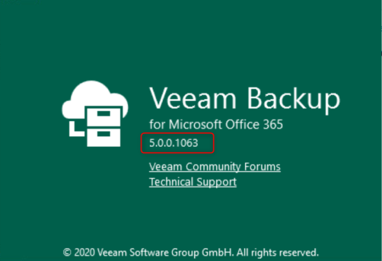Cumulative patch KB4078 - Verify version of Veeam